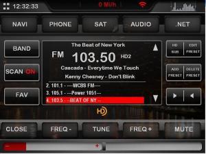 A sample HD radio skin.